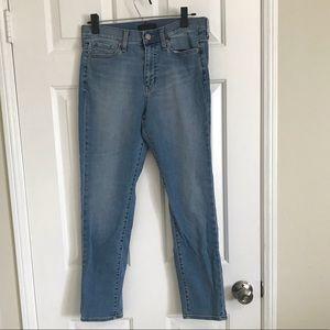 Uniqlo high rise cigarette jeans sz26